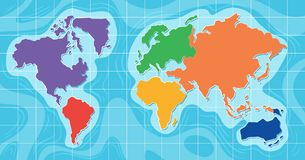 Aerial view of world map Stock Image