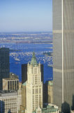 Aerial view of World Trade Towers, New York City, NY Stock Photography