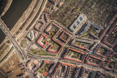Aerial view of Wroclaw city center Royalty Free Stock Photos