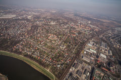 Aerial view of Wroclaw city center Royalty Free Stock Image