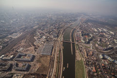 Aerial view of Wroclaw city center Stock Photography