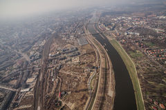 Aerial view of Wroclaw city center Royalty Free Stock Photography