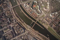 Aerial view of Wroclaw city center Royalty Free Stock Photo