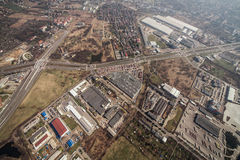 Aerial view of Wroclaw city center Stock Image