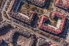 Aerial view of wroclaw city in Poland Stock Images