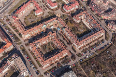 Aerial view of wroclaw city in Poland Royalty Free Stock Images
