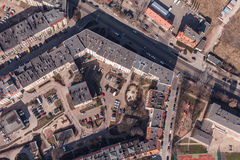 Aerial view of wroclaw city in Poland Stock Photography
