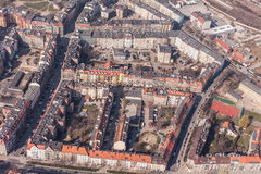 Aerial view of wroclaw city in Poland Royalty Free Stock Photo