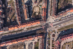 Aerial view of wroclaw city in Poland Royalty Free Stock Image