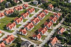 Aerial view of Wroclaw city suburbs. In Poland Royalty Free Stock Photography