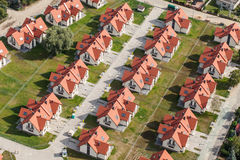 Aerial view of Wroclaw city suburbs. In Poland Royalty Free Stock Image