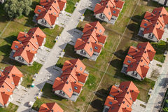 Aerial view of Wroclaw city suburbs. In Poland Royalty Free Stock Photos