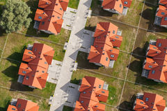 Aerial view of Wroclaw city suburbs. In Poland Stock Photography
