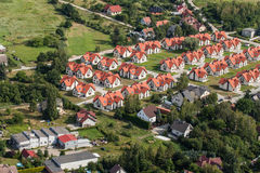 Aerial view of Wroclaw city suburbs. In Poland Royalty Free Stock Images
