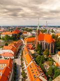 Aerial view of Wroclaw Stock Photography