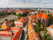 Aerial view of Wroclaw Stock Images