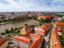 Aerial view of Wroclaw Royalty Free Stock Photo