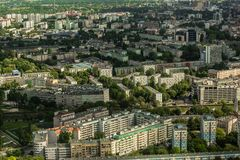 Aerial view of Wroclaw town in Poland Royalty Free Stock Photos