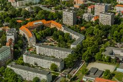 Aerial view of Wroclaw town in Poland Stock Photography