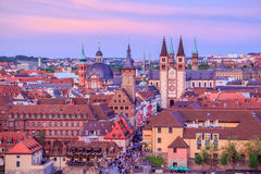 Aerial view of Wurzburg Royalty Free Stock Photos