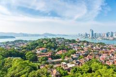 Aerial view of xiamen gulangyu island Royalty Free Stock Photography