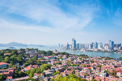 Aerial view of xiamen from gulangyu island Royalty Free Stock Images