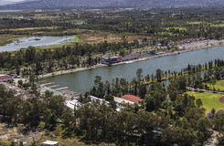 Aerial view of xochimilco in mexico city Royalty Free Stock Images
