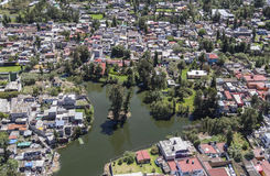 Aerial view of xochimilco in mexico city Royalty Free Stock Photos