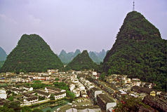 Aerial view of Yanhshuo village, China Stock Images