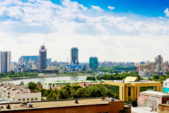 Aerial view of Yekaterinburg on June 26, 2013 Royalty Free Stock Photos