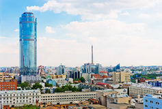 Aerial view of Yekaterinburg on June 26, 2013 Royalty Free Stock Photo