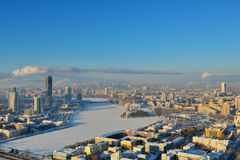 Aerial view of Yekaterinburg, Russia Stock Photo