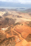 Aerial view of yellow earth Stock Images