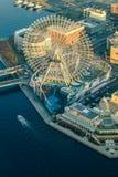 Aerial view of Yokohama Cityscape at Minato Mirai. Waterfront district Royalty Free Stock Image