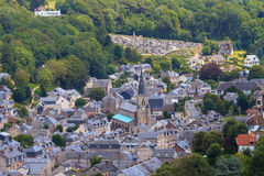 Aerial view of Yport Village on the Normandy Coast Royalty Free Stock Photos