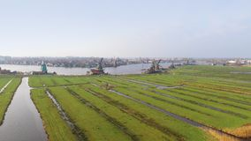 Aerial view on Zaanse Schans Royalty Free Stock Photos