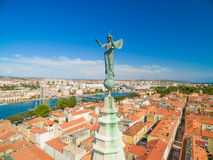 Aerial view of Zadar in Croatia Royalty Free Stock Photo