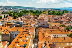 Aerial view of Zadar old town in Croatia royalty free stock photography