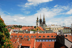 Aerial view of Zagreb. Croatia Royalty Free Stock Photography