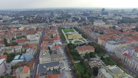 Aerial view of Zagreb, King Tomislav Square. stock video