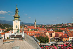 Aerial view of Zagreb rooftops Royalty Free Stock Photography