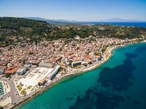 Aerial  view of Zakynthos city in  Zante island, in Greece Stock Image