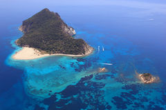 Aerial view on Zakynthos Greece Royalty Free Stock Image