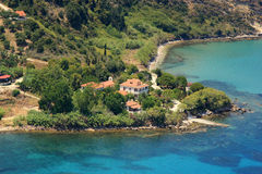 Aerial view on Zakynthos Greece Royalty Free Stock Photography