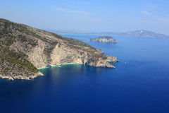 Aerial view on Zakynthos island Royalty Free Stock Image
