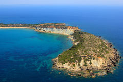 Aerial view on Zakynthos island Stock Image