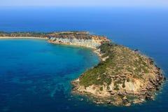 Aerial view on Zakynthos island stock image