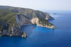 Aerial view on Zakynthos island Royalty Free Stock Images