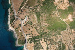 Aerial view on Zakynthos island Royalty Free Stock Photos