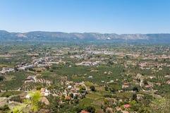 Aerial view of Zakynthos Island Stock Photo